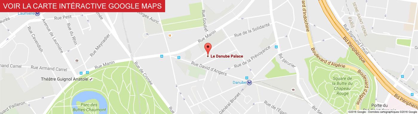 Voir Le Danube Palace sur Google Maps